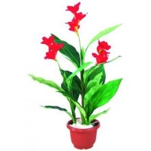 Floare artificiala in ghiveci Canna Lilie