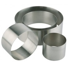 Forma inox rotunda mousse 10 x H 4,5 cm