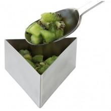 Mousse inox in forma de triunghi - 8.5xH4.5 cm