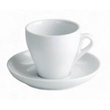Ceasca+farfurioara din portelan pentru cappuccino 160 ml - Roma - set 12 buc/pachet