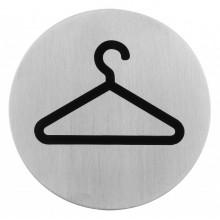 Semn indicator pentru garderoba din inox 7,5 cm