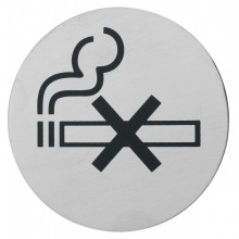 Semn indicator pentru nefumatori din inox 7,5 cm