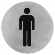 Semn indicator toaleta barbati din inox 7,5 cm