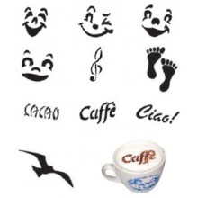 Set pentru decorare cappuccino 10 cm