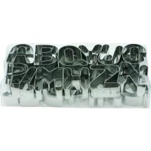 Set 26 piese forma litere A-Z din inox 7.5x2.5 cm