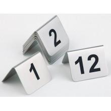 Set inox numere masa 1-11