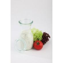 Sticla cu capac pentru sucuri/dressinguri 250 ml - set 6/bax