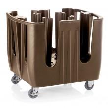 Carucior transport farfurii, boluri, 4 compartimente, 92x73x78 cm