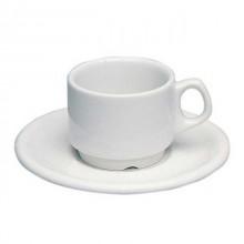 Ceasca si farfurie espresso portelan, 80 ml