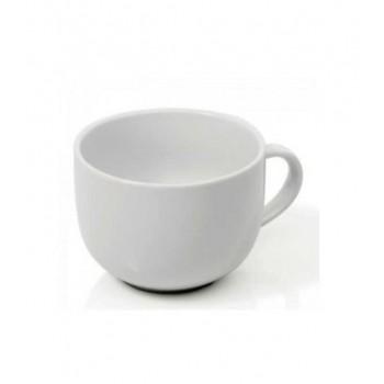 Ceasca si farfurie portelan cappuccino, ceai 450 ml