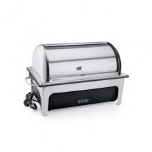 Chafin dish electric cu capac rolltop cu termostat de comandă cu container GN 1/1 - 65 mm