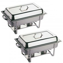 Chafing dish inox 2 x GN 1/1