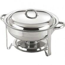 Chafing dish rotund cu capac 4 litri