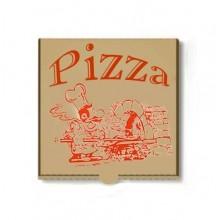 Cutie pizza 24 cm din carton natur 100 buc / set