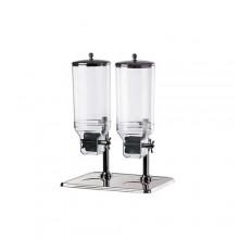 Dispenser cereale dublu inox 7.5 litri