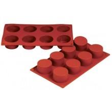 Forma silicon cilindrica 6 x 3 cm