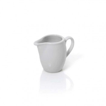 Latiera portelan alb, servire lapte, pentru cafea, ceai, 30 ml