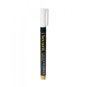 Markerele cu cretă lichida alba, 1-2 mm, alb, rezistente pentru scrierea pe orice suprafata care nu sunt poroase: table de cretă, sticla, plastic, metal sau lemn lăcuit
