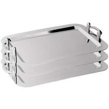 Platou inox rectangular suprapozabil 530x325x40mm