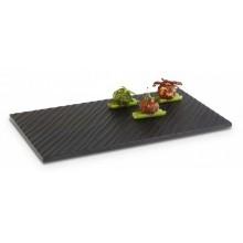 Platou melamina negru 32.5x17.5 cm