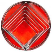 Set 6 forme patrate din inox