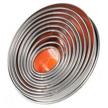 Set 9 decupatoare ovale inox