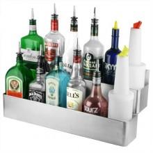 Speed Rack / Rails / Sertar dublu sticle bauturi bar 107 x 21 x 25 cm