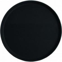 Tava servire rotunda neagra 27 cm