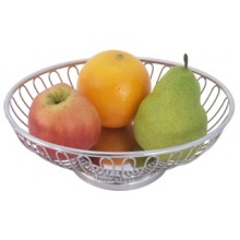 Cos oval inox paine / fructe 20 x 15 cm